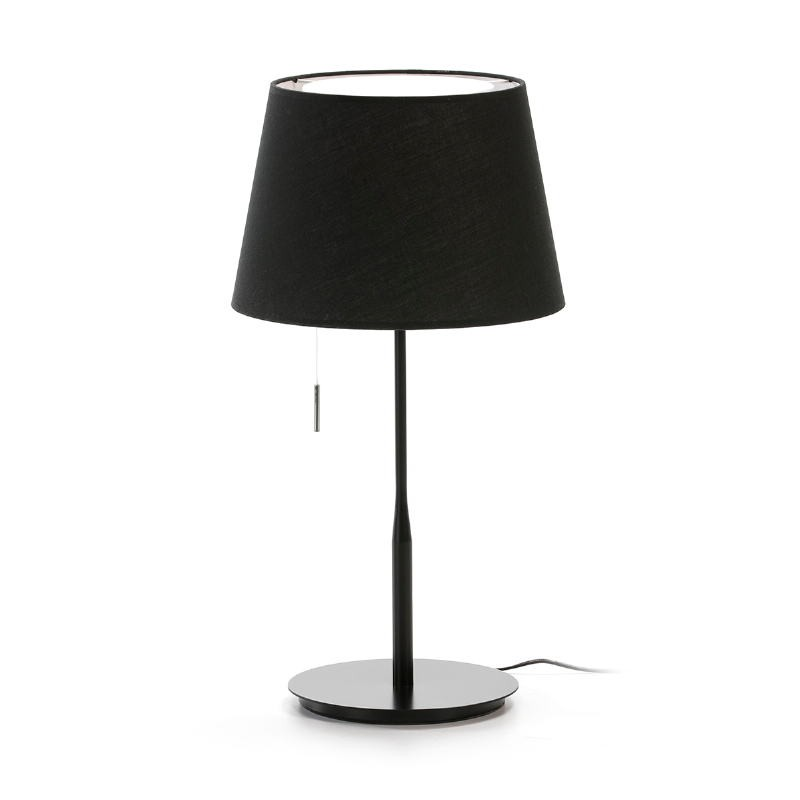 Table Lamp With Lamp Shade 25X36X50 Metal Black