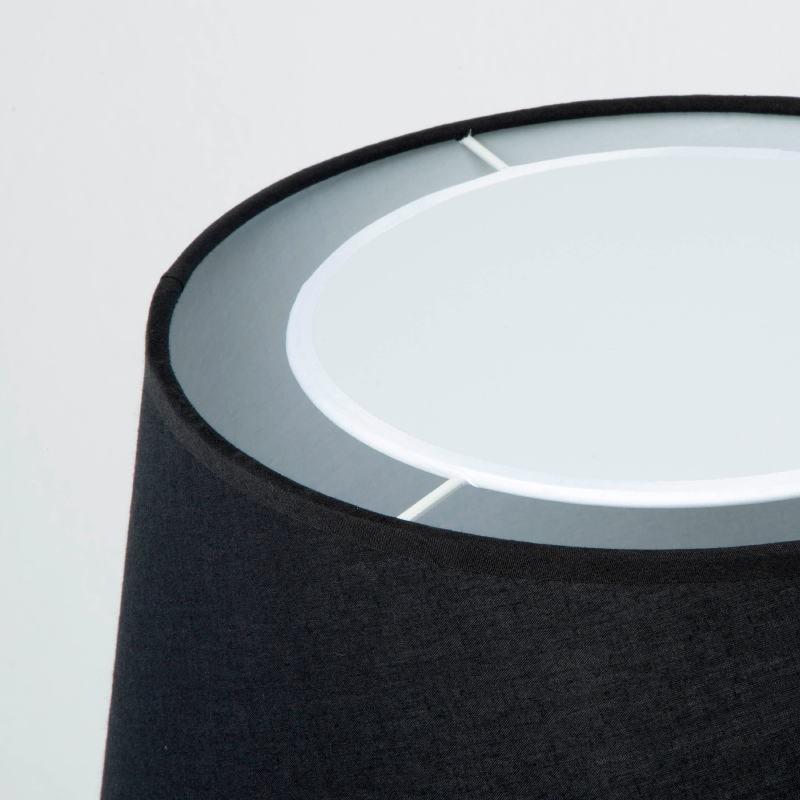 Lampe de Table avec abat-jour 25x36x50 Métal Noir - image 53596