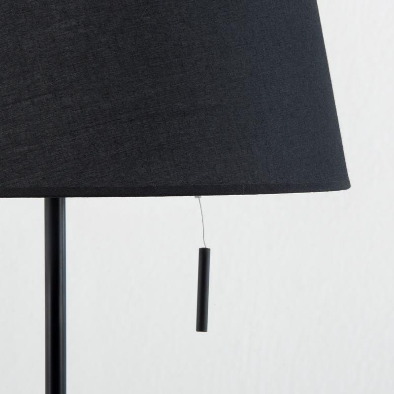 Lampe de Table avec abat-jour 25x36x50 Métal Noir - image 53597