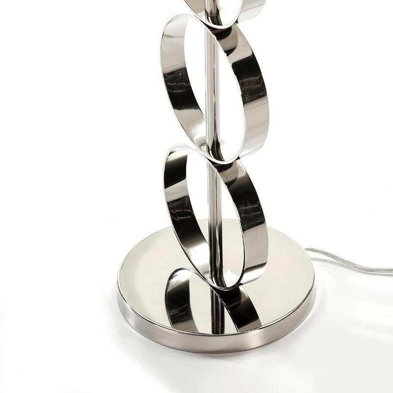 Lampe Auf Tisch Ohne Bildschirm 18X52 Metall Nickel - image 53599
