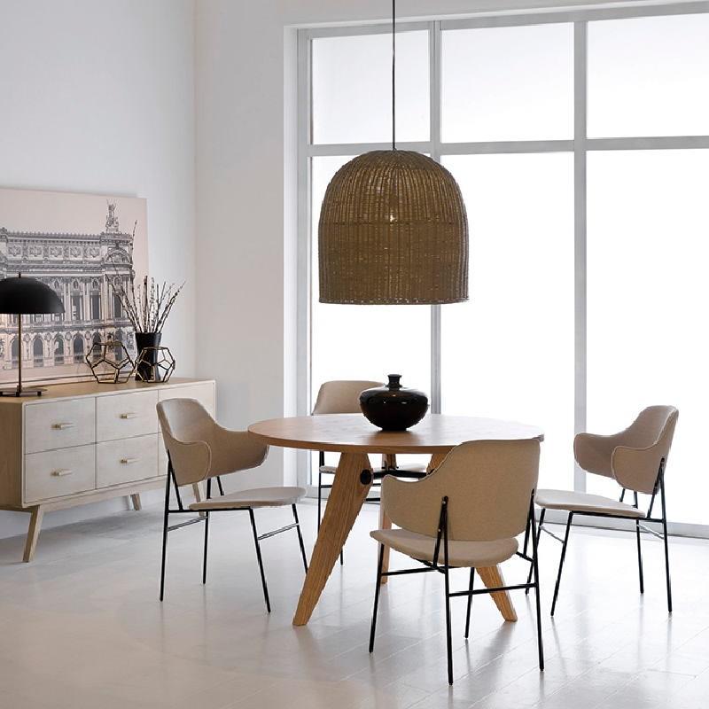 Lampe de Table avec abat-jour 43x58 Métal Noir Doré - image 53606