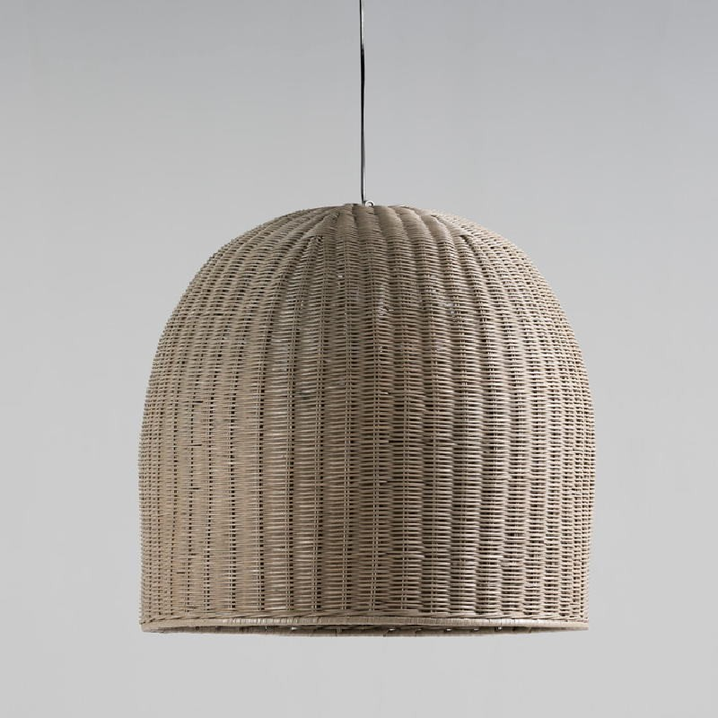Hanging Lamp With Lampshade 60X60 Wicker Grey - image 53612