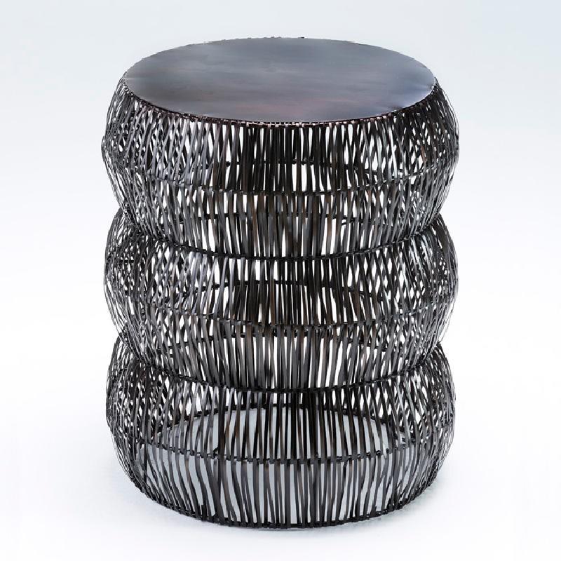 Taburete 43X50 Metal Color Bronce Envejecido - image 53621