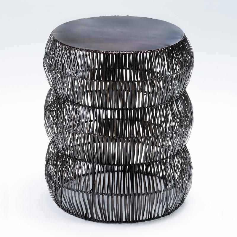 Taburete 43X50 Metal Color Bronce Envejecido - image 53622