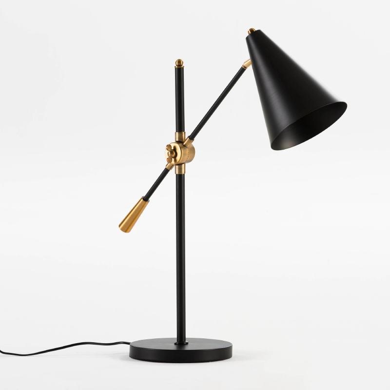 Lampe de Table avec abat-jour 45x70 Métal Noir
