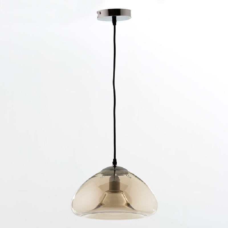 Hanging Lamp With Lampshade 30X18 Glass Amber - image 53625