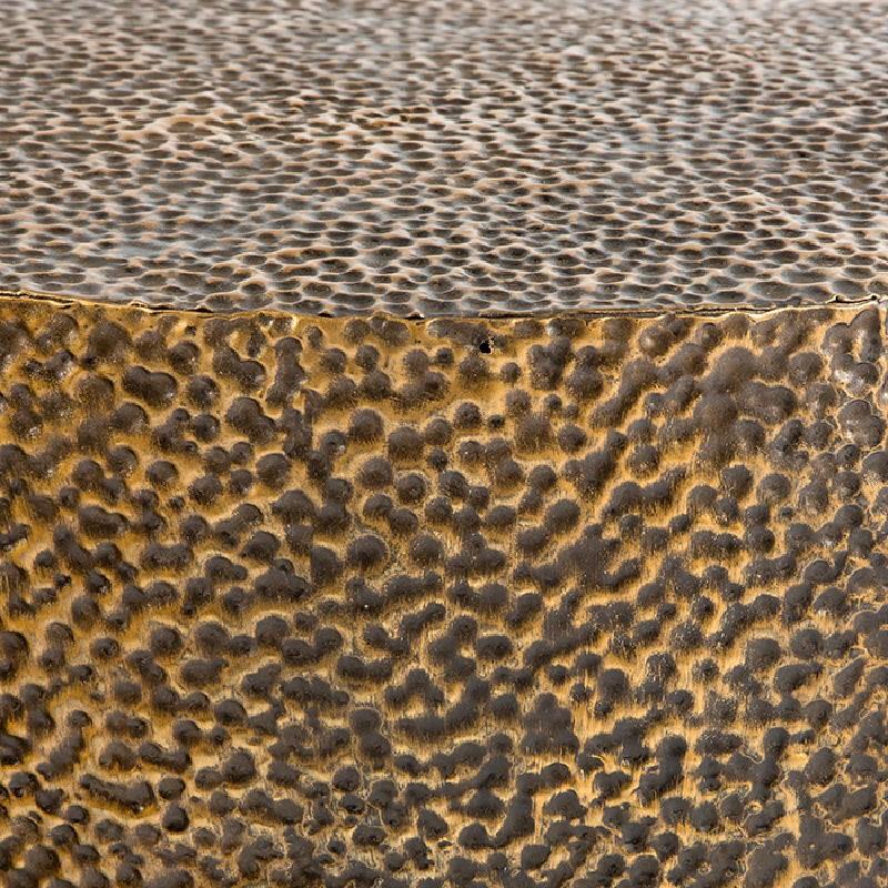Set 3 Table d'appoint, bout de canapé 76x76x51, 60x60x42, 51x51x36 Métal Or Noir - image 53637