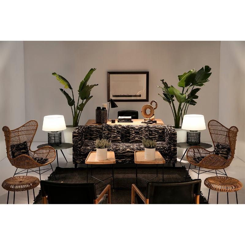 Chaise de Bureau réglable 64 x 60 x 93 99 cm Cuir Métal Noir - image 53655