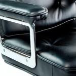 Silla De Despacho Regulable 64 X 60 X 93 99 Cm Piel Metal Negro