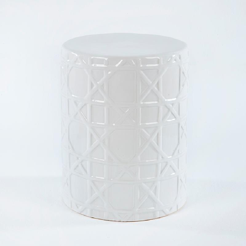 Sgabello 36X36X46 Ceramica Bianco