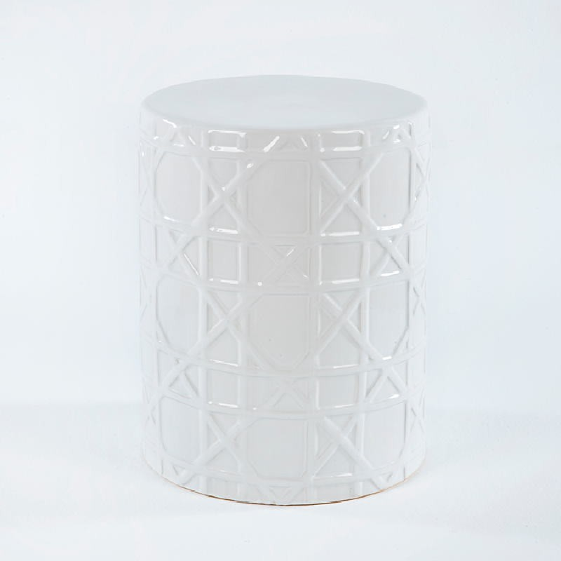 Stool 36X36X46 Ceramic White