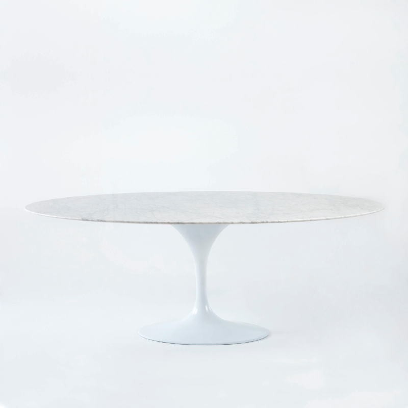 Dining Room Table 200X120X73 Marble Aluminium White - image 53690