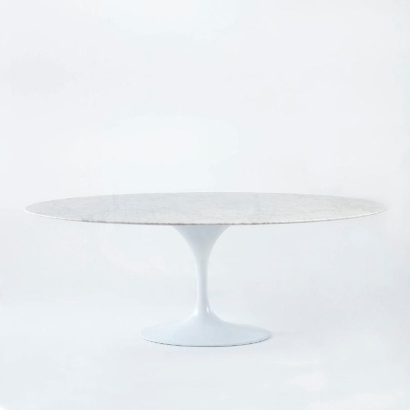 Table à Manger 200x120x73 Marbre Aluminium Blanc - image 53690