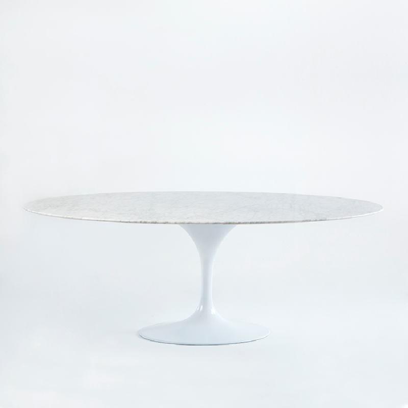 Table à Manger 200x120x73 Marbre Aluminium Blanc - image 53691