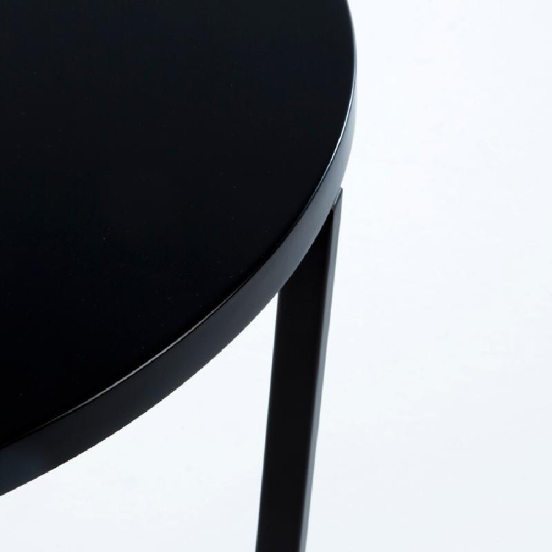 Table d'appoint, bout de canapé 50x50x54 Métal MDF Noir - image 53696