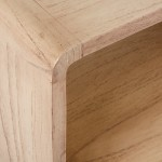 Bedside Table 50X35X51 Wood White Veiled