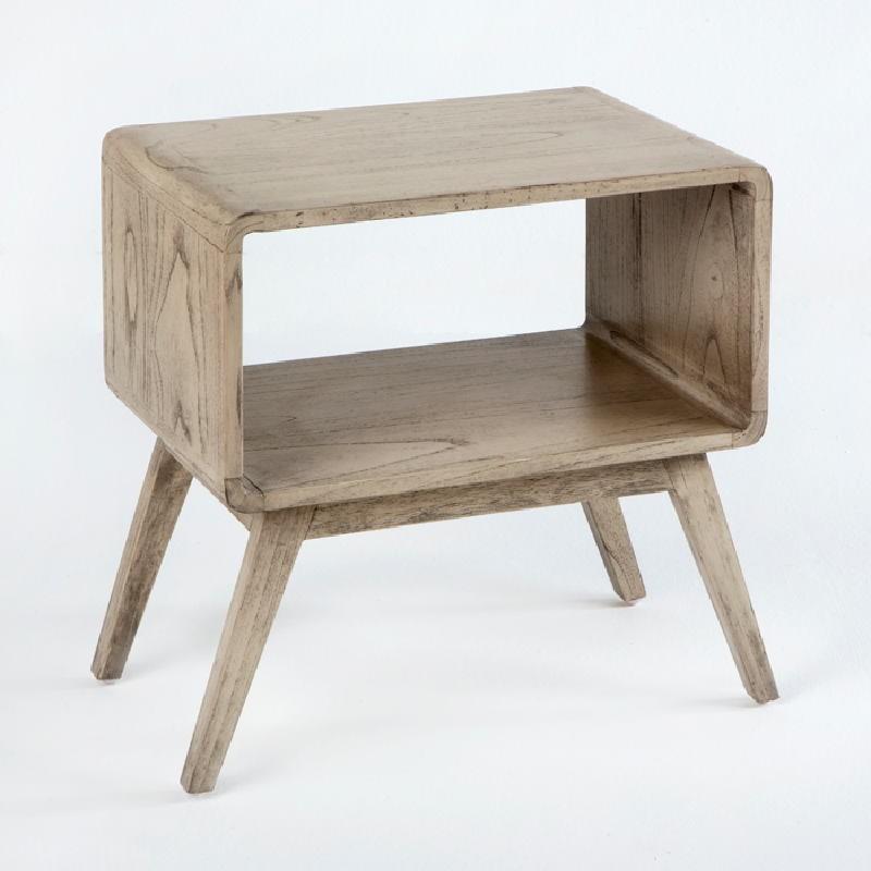 Table de chevet 50x35x51 Bois Gris blanchi - image 53705