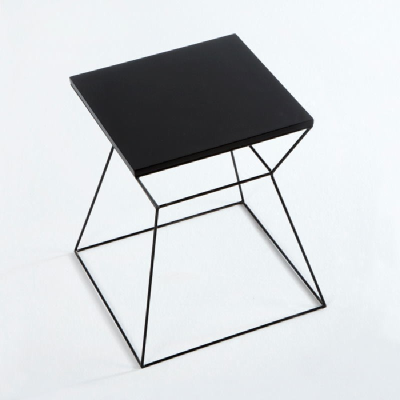 Auxiliary Table 43X43X45 Metal Mdf Black