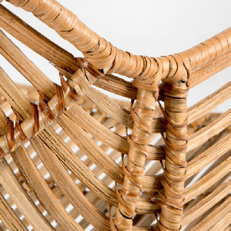 Chair 55X53X73 Metal Wicker Natural - image 53721