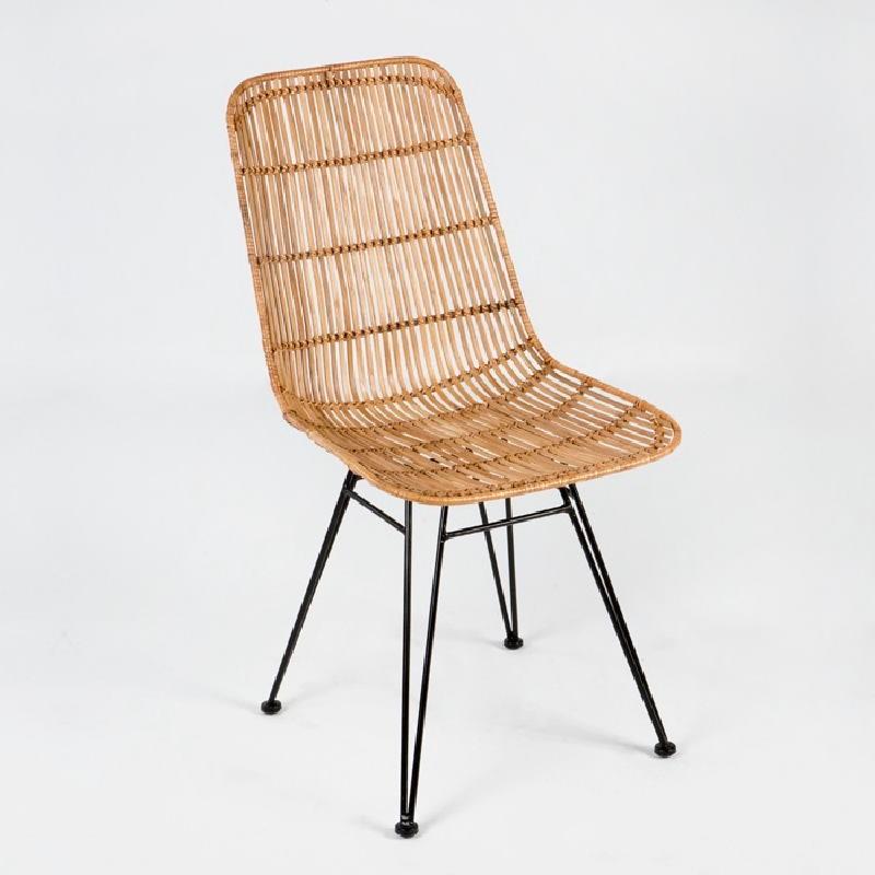 Chair 57X45X88 Metal Wicker Natural