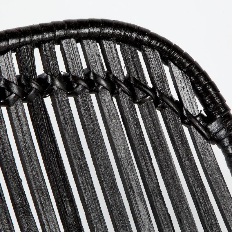 Chaise 57x45x88 Métal Osier Noir - image 53727