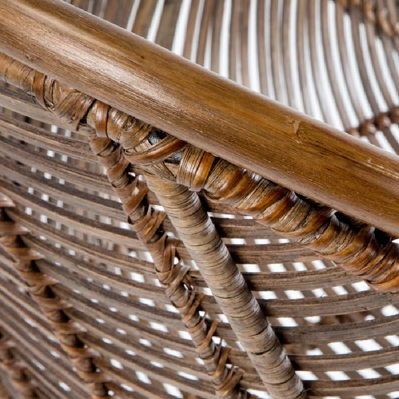Chair 53X71X81 Metal Wicker Brown - image 53734
