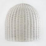 Lampe suspendue 60x60 Osier Blanc