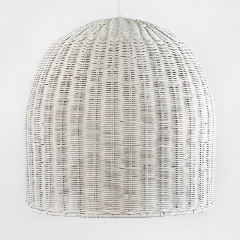Lampe suspendue 60x60 Osier Blanc - image 53747
