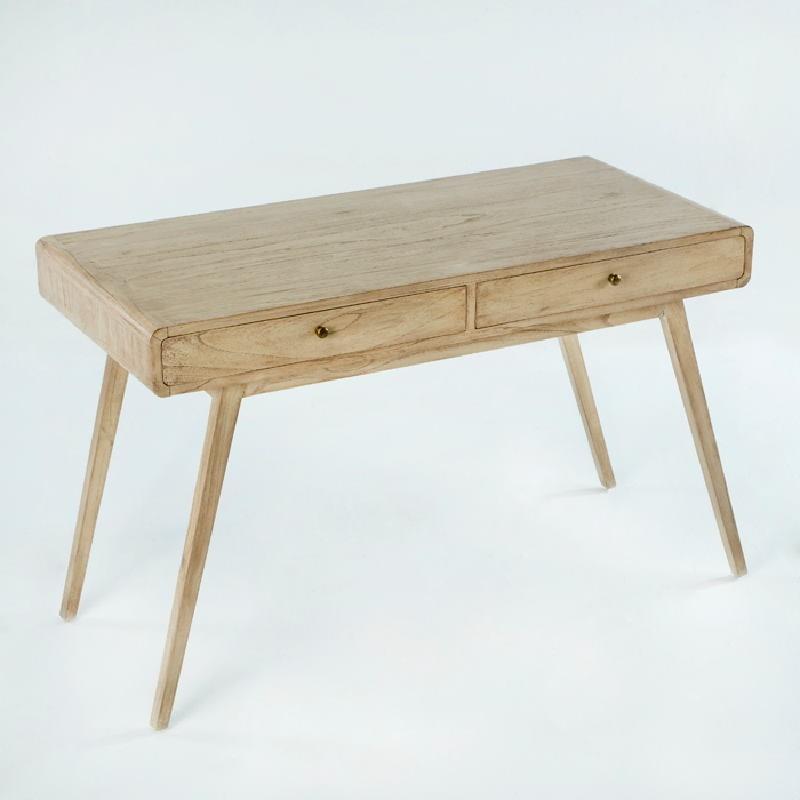 Desk 120X55X76 Wood White Veiled