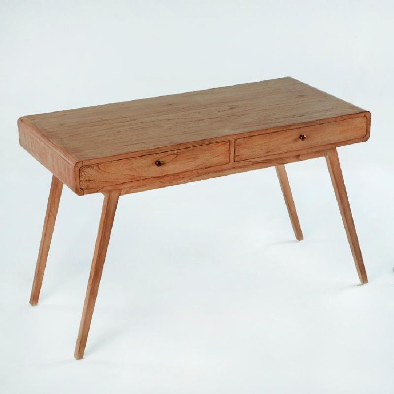 Schreibtisch 120X55X76 Braunes Holz - image 53766
