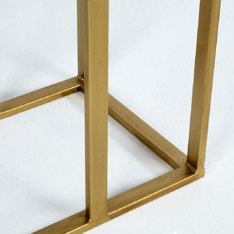 Auxiliary Table 62X28X61 Metal Gold Mirror Aged - image 53769