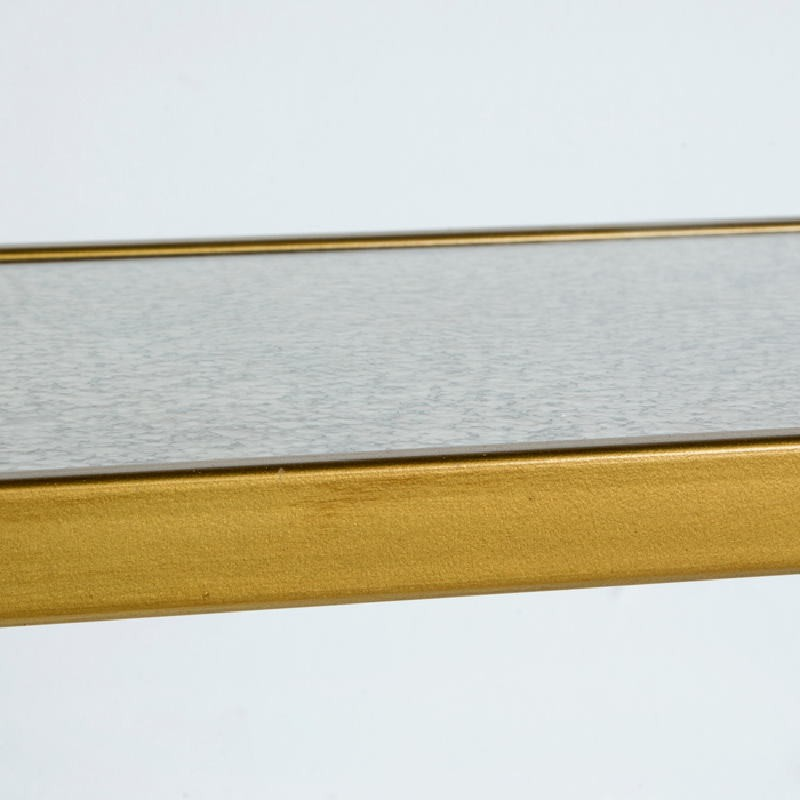 Auxiliary Table 62X28X61 Metal Gold Mirror Aged - image 53770
