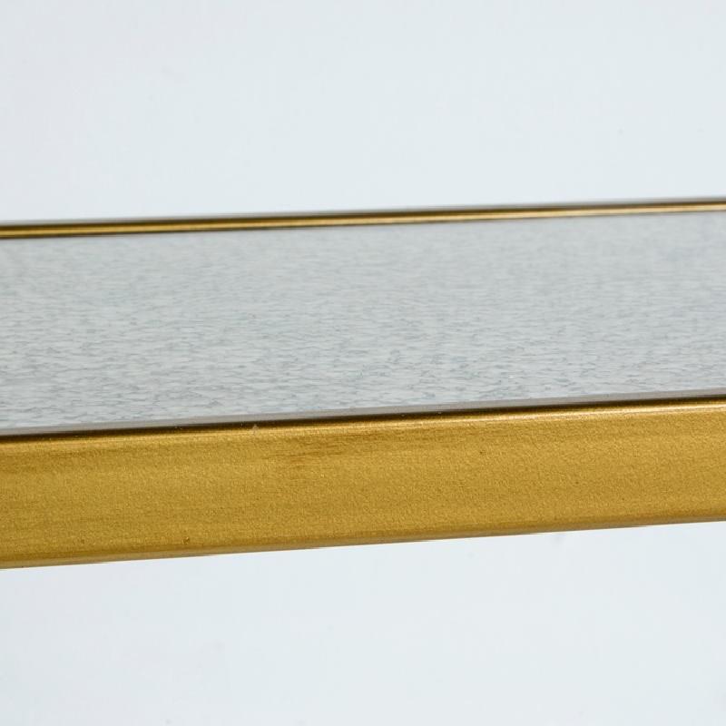 Table d'appoint, bout de canapé 62x28x61 Métal Or Miroir Vieilli - image 53770