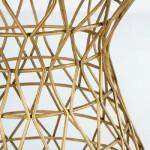 Hocker 34X34X52 Metall Golden