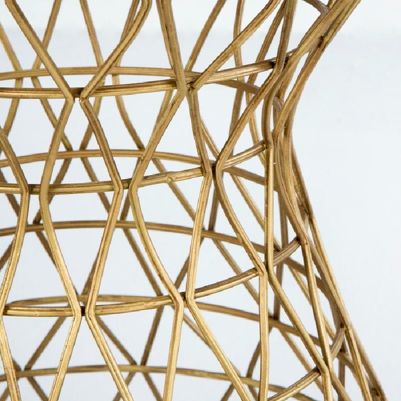 Tabouret bas 34x34x52 Métal Doré - image 53773