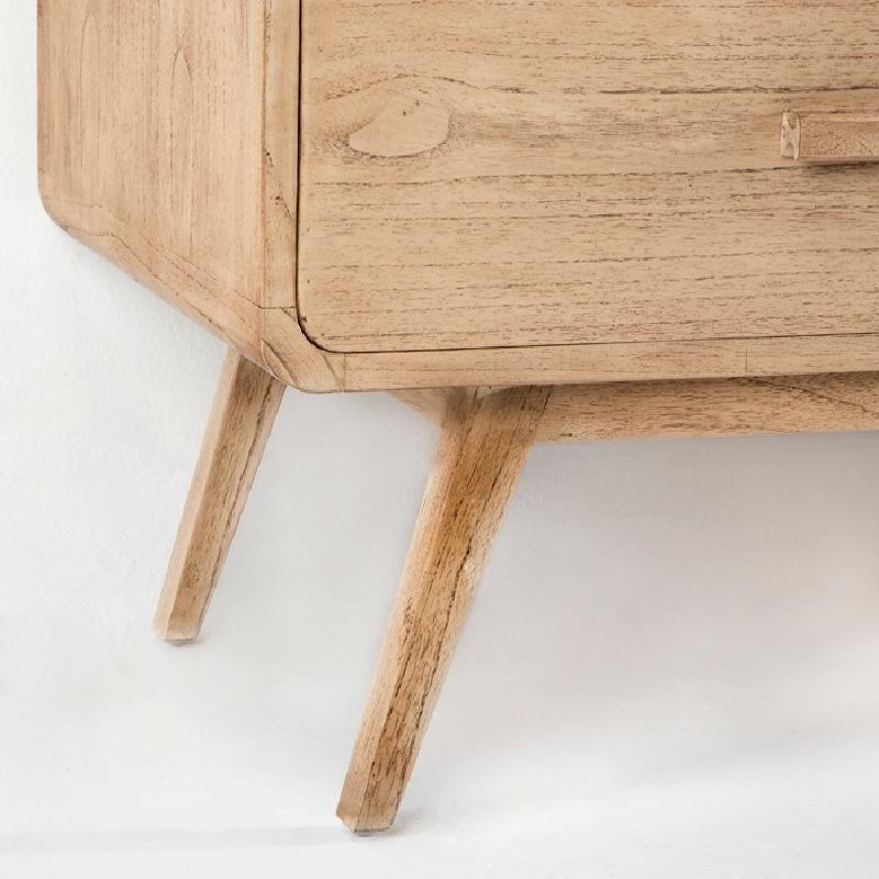 Sideboard 200X50X75 Wood White Veiled - image 53780