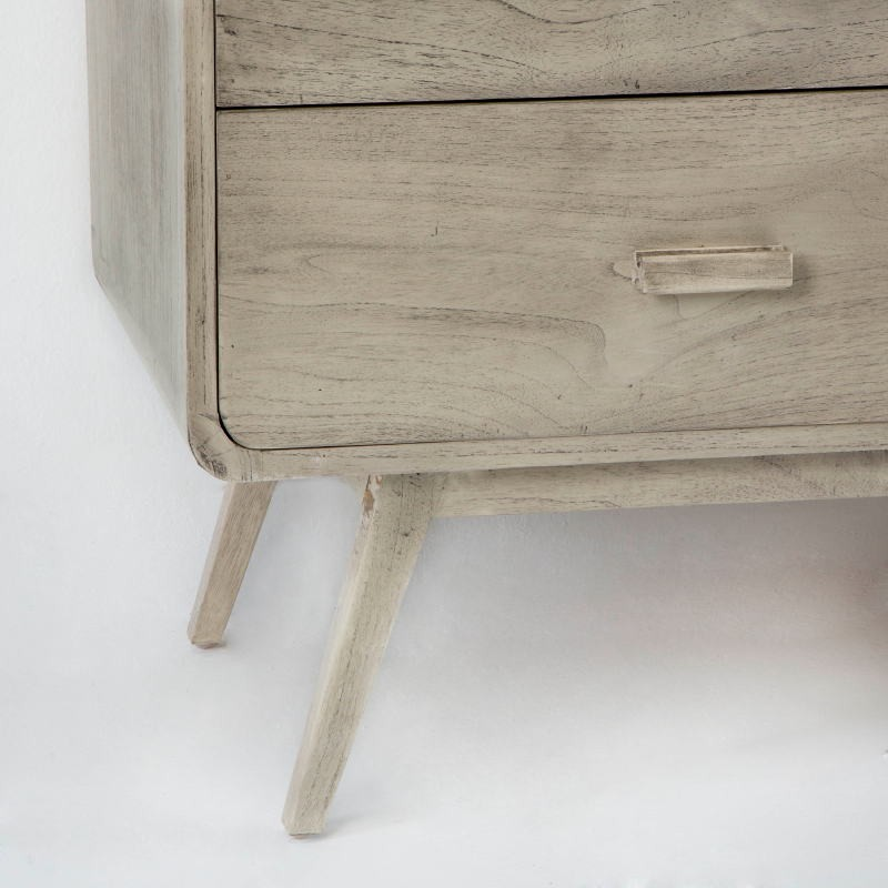 Sideboard 200X50X75 Gebleichtes Graues Holz - image 53785
