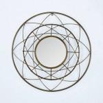 Specchio 78X8X78 Metallo Dorato