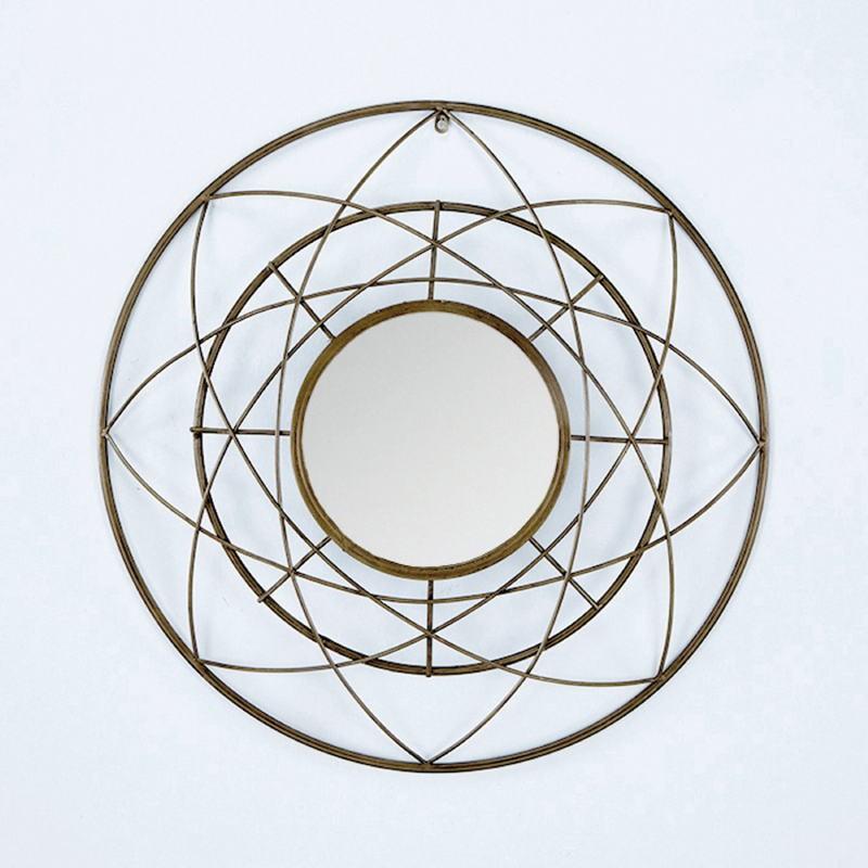 Miroir 78x8x78 Métal Doré - image 53796