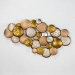 Scultura 127X8X76 Metallo Argento Oro Rame