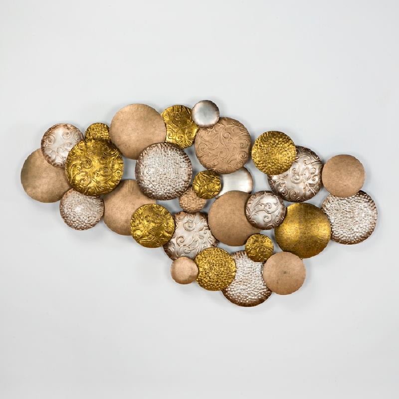 Sculpture 127X8X76 Metal Silver Gold Copper - image 53797