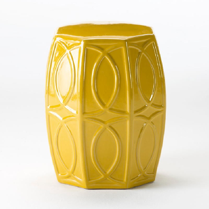Sgabello 38X45 Ceramica Giallo