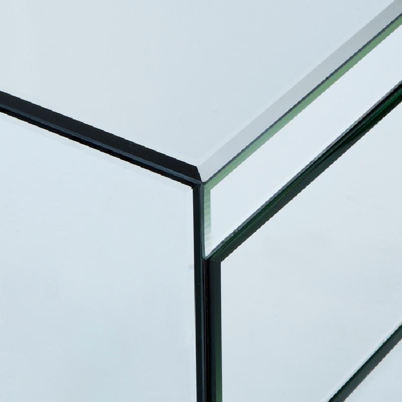 Table de chevet 3 tiroirs 60x40x70 Miroir   - image 53812