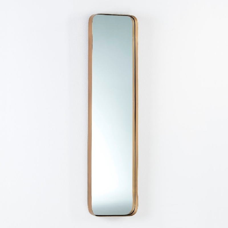 Specchio 30X5X120 Metallo Dorato