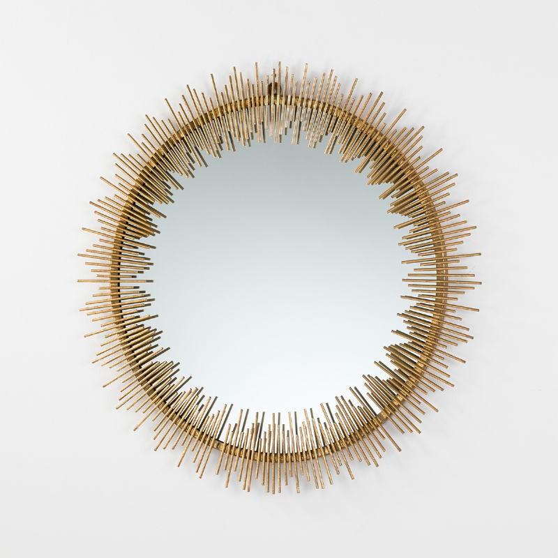 Mirror 85X3X85 Metal Gold