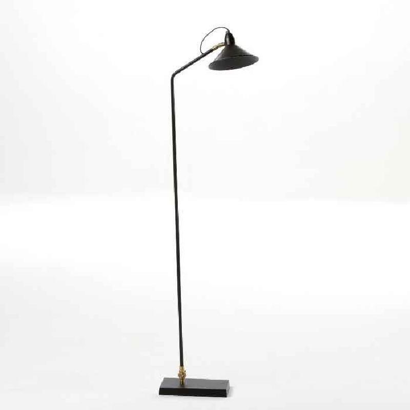 Lámpara De Pie Con Pantalla 26X19X136 Metal Negro
