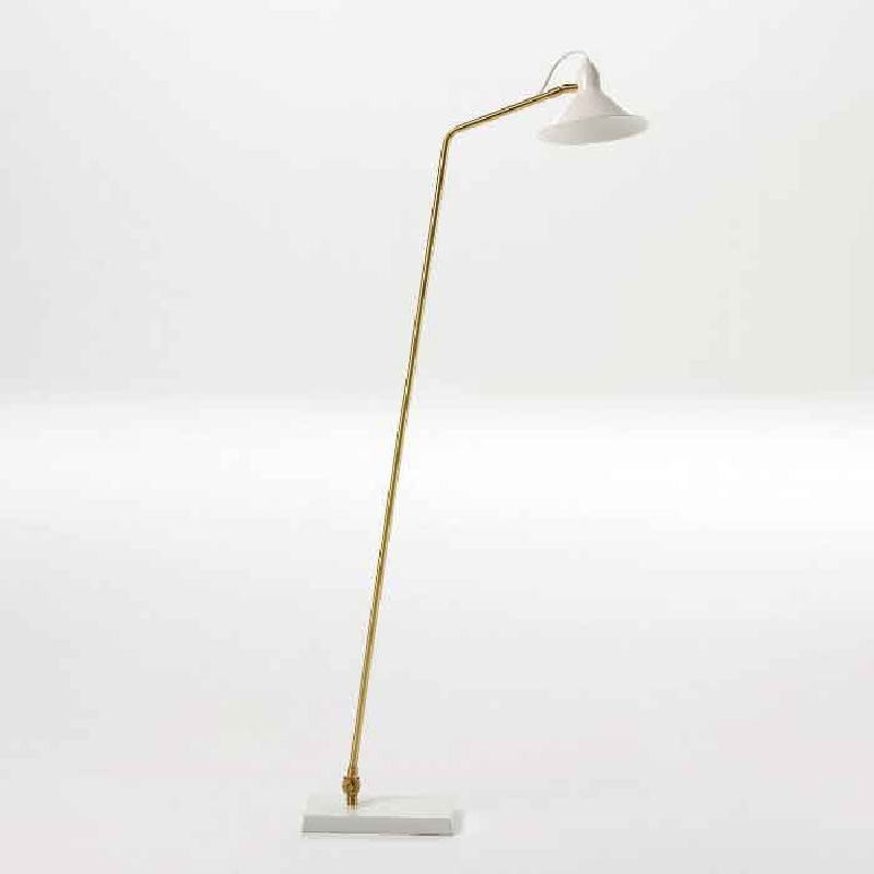 Standard Lamp With Lampshade 26X19X136 Metal White Bronze