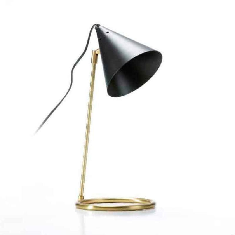 Lampada Da Tavolo 19X17X45 Metallo Nero Bronzo
