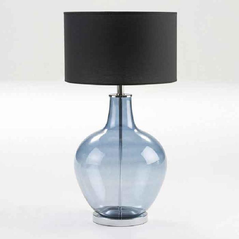 Lampada Da Tavolo Senza Paralume 34X57 Vetro Blu