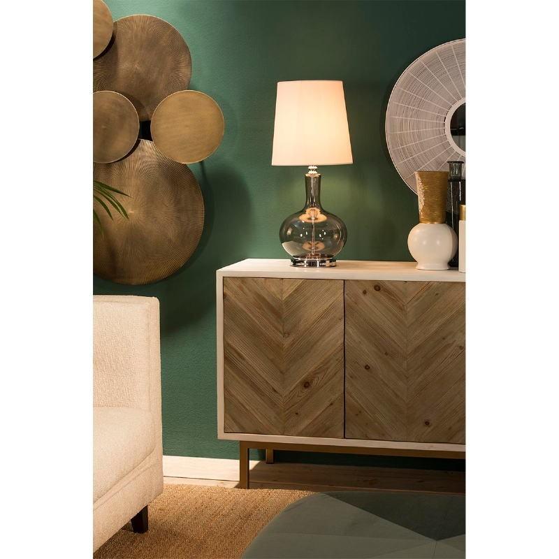 Lampe de Table sans abat-jour 25x45 Verre Fumé - image 53844